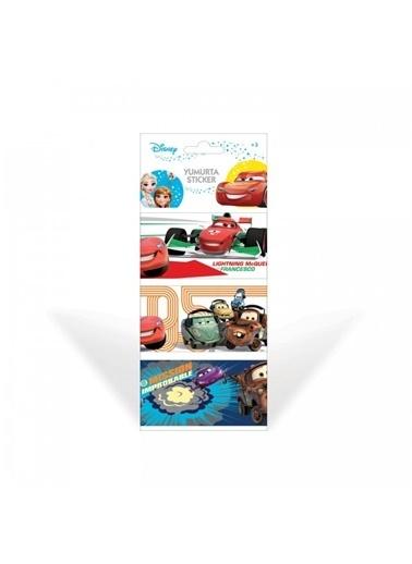 Disney Cars-2 Yumurta Sticker Renkli